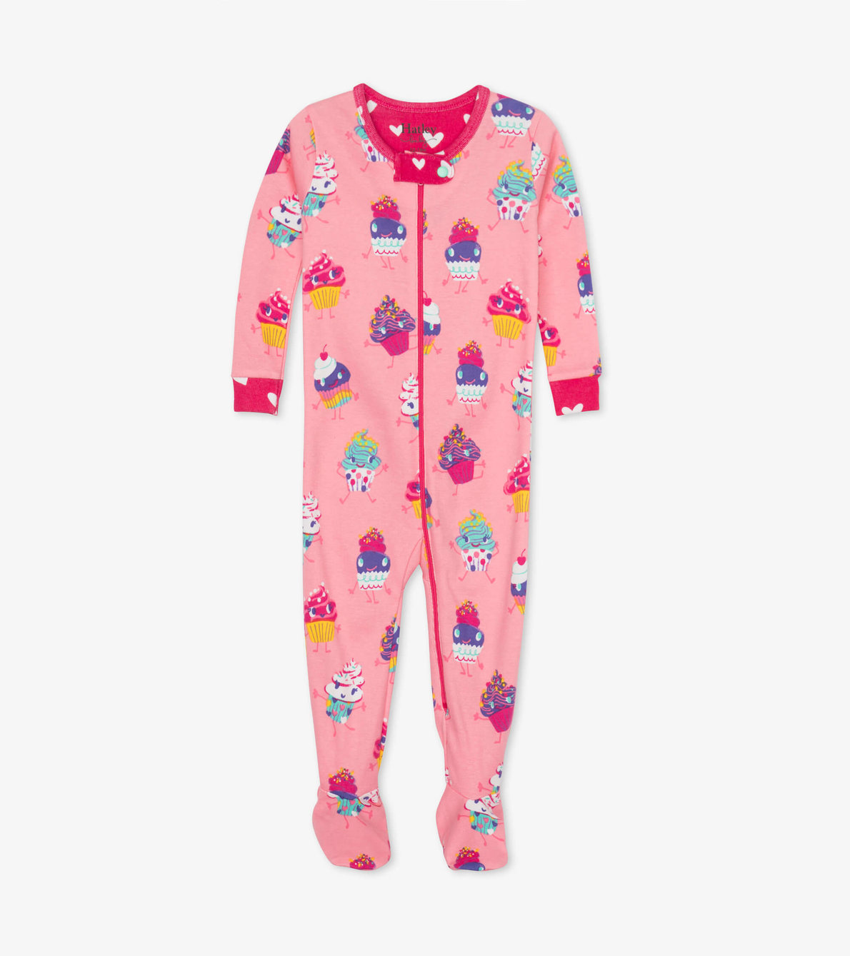 View larger image of Dancing Cupcakes Organic Cotton Footed Coverall