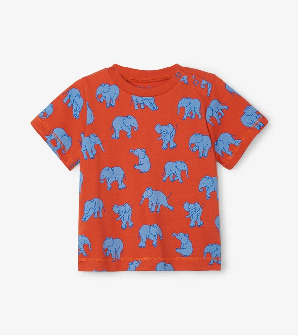 Dancing Elephants Baby Graphic Tee