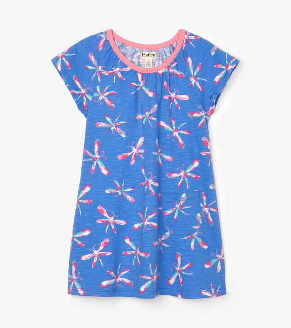 Dazzling Dragonflies Tee Shirt Dress