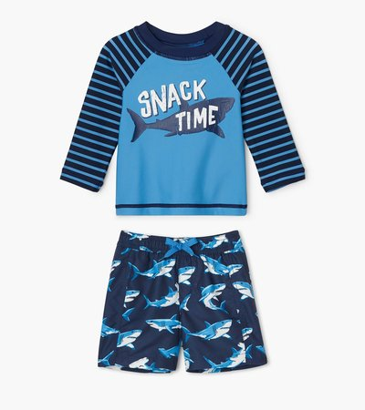 Deep-Sea Sharks Baby Rashguard Set