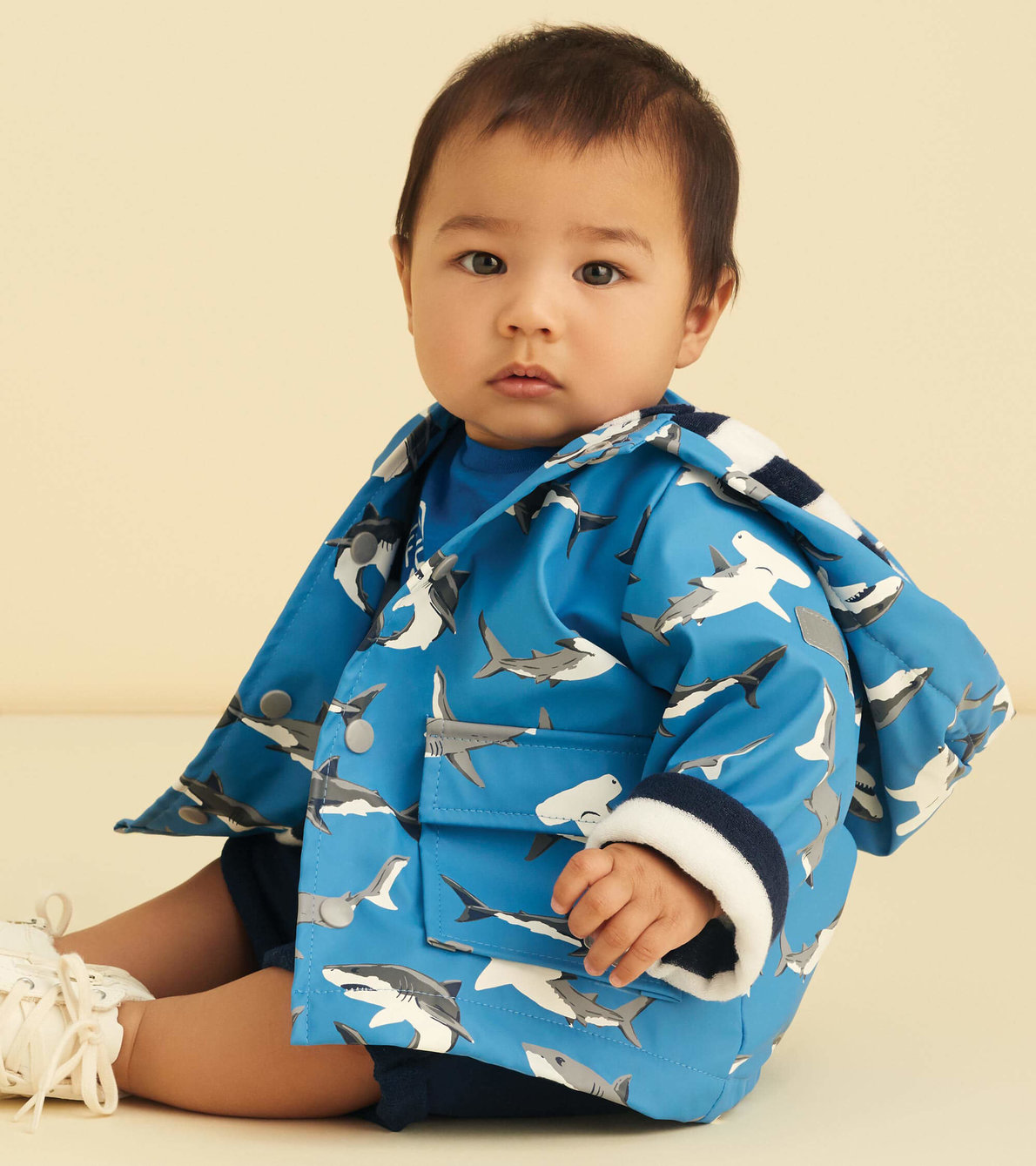 View larger image of Deep-Sea Sharks Colour Changing Baby Raincoat