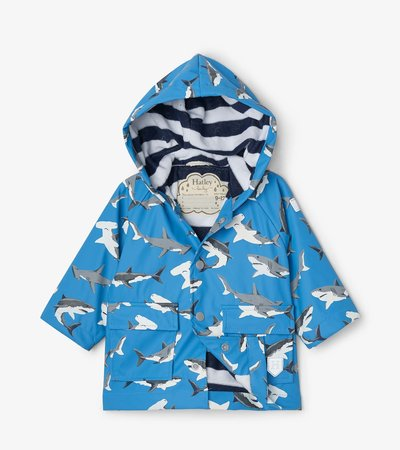 Deep-Sea Sharks Colour Changing Baby Raincoat