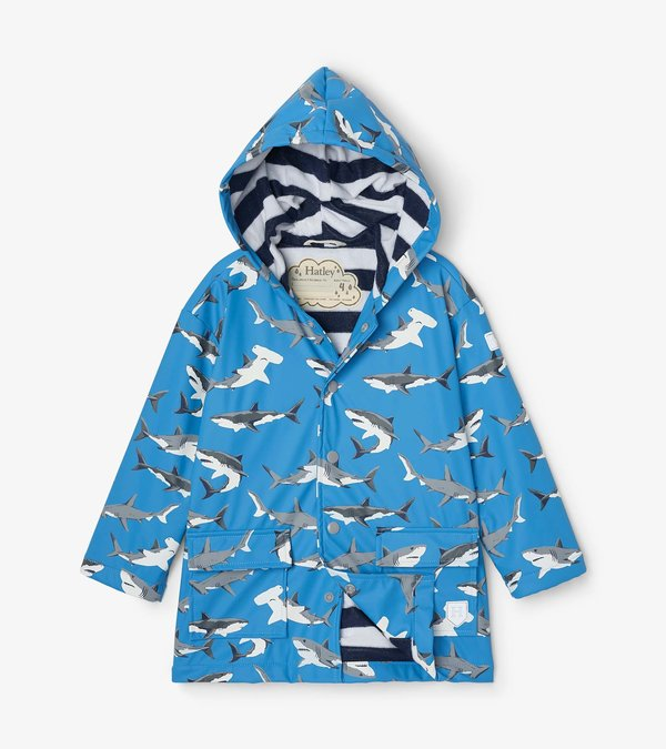 Deep-Sea Sharks Colour Changing Raincoat