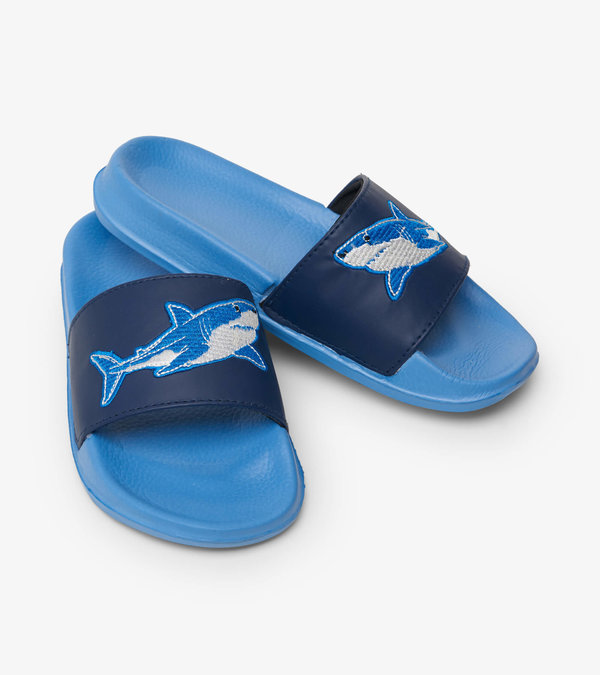 Deep-Sea Sharks Slide On Sandals