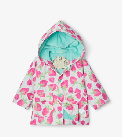 Delicious Berries Baby Raincoat
