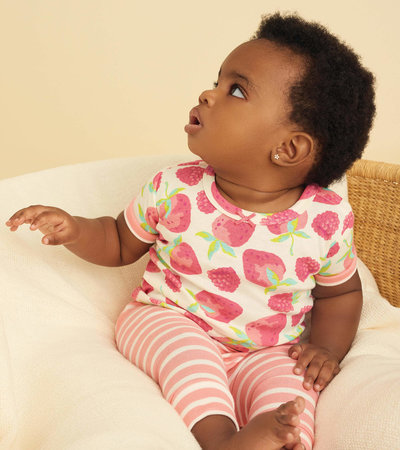 Delicious Berries Baby Short Sleeve Pajama Set