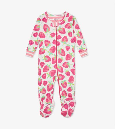 Delicious Berries Organic Cotton Footed Coverall