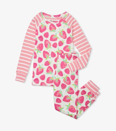 Delicious Berries Organic Cotton Raglan Pajama Set