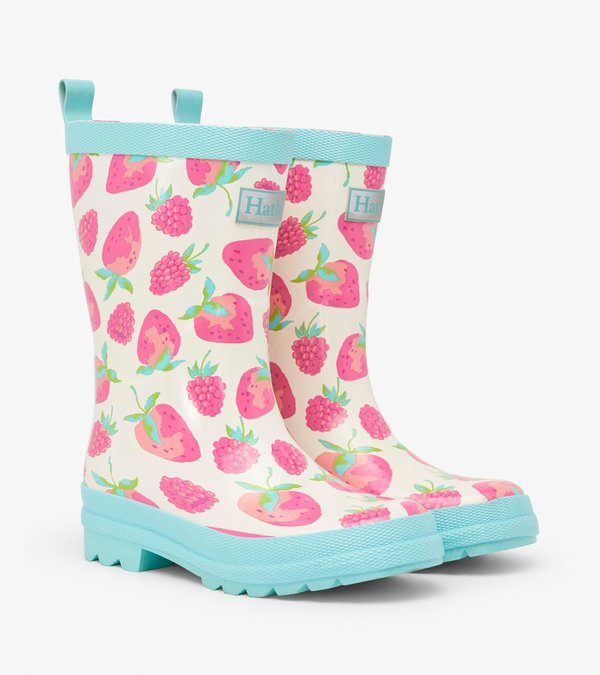 Delicious Berries Shiny Rain Boots
