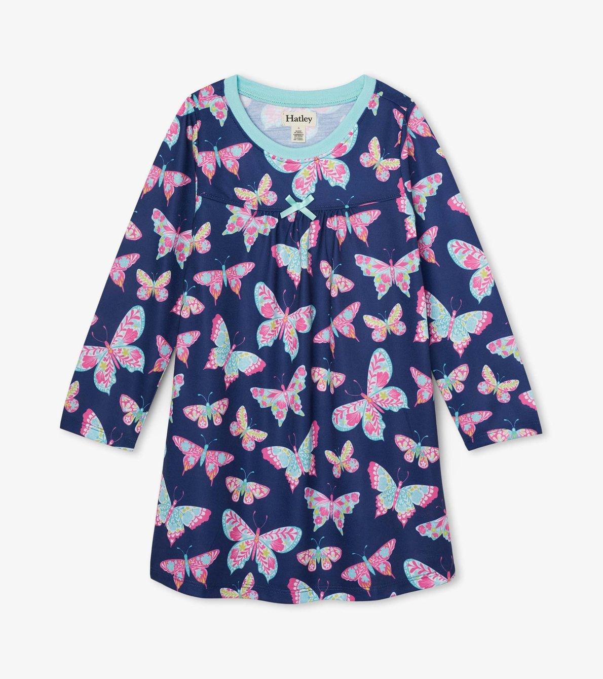 View larger image of Delightful Butterflies Long Sleeve Nightdress
