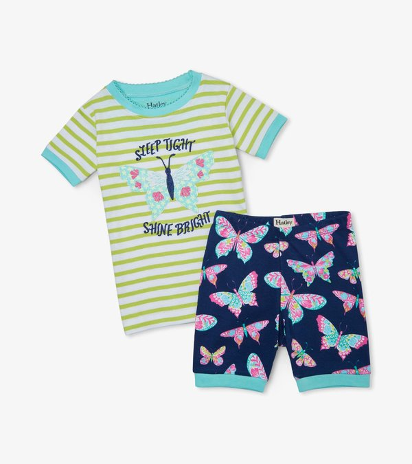 Delightful Butterflies Organic Cotton Short Pajama Set