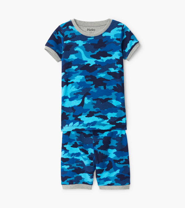 Dino Camo Organic Cotton Short Pajama Set