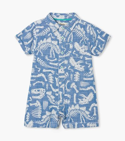 Dino Fossils Baby Woven Romper