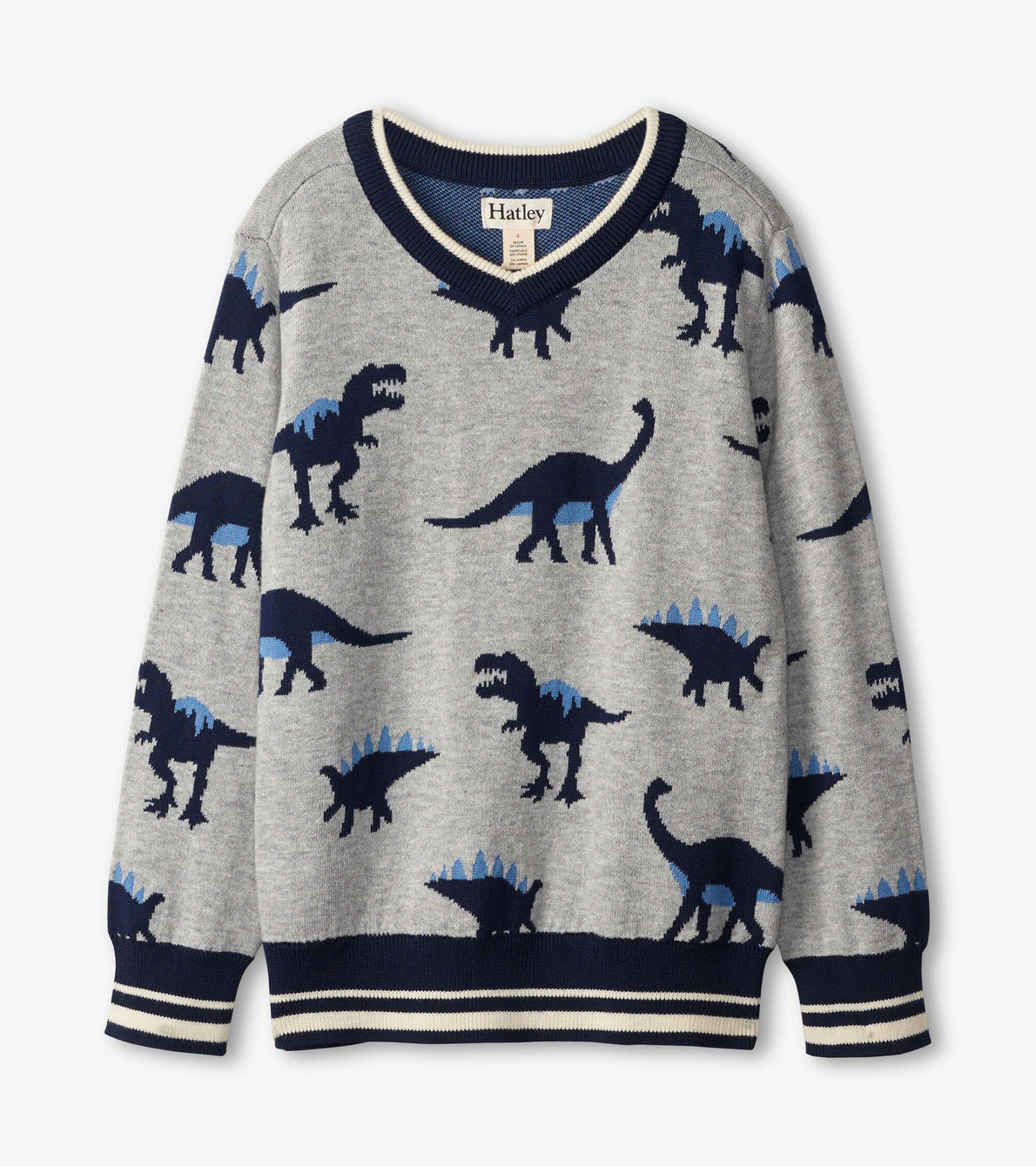 View larger image of Dino Herd V-Neck Sweater