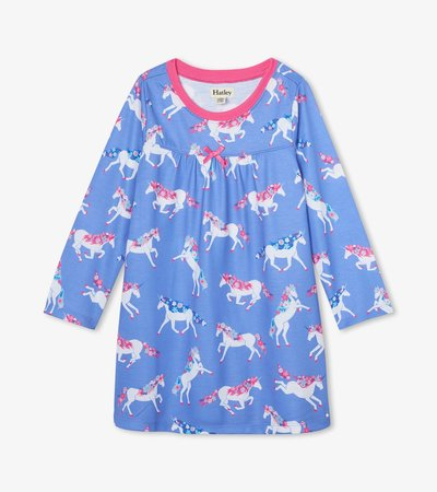 Dreamy Unicorns Long Sleeve Nightdress