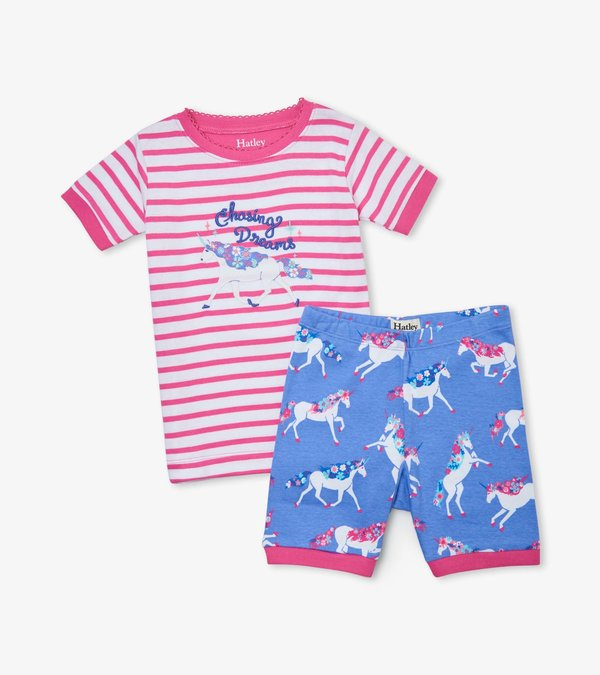 Dreamy Unicorns Organic Cotton Short Pajama Set
