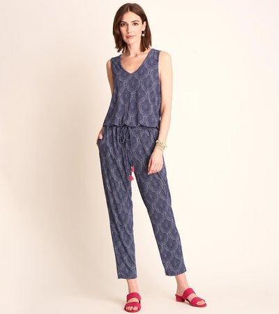 Ella Jumpsuit - Blue Scallop