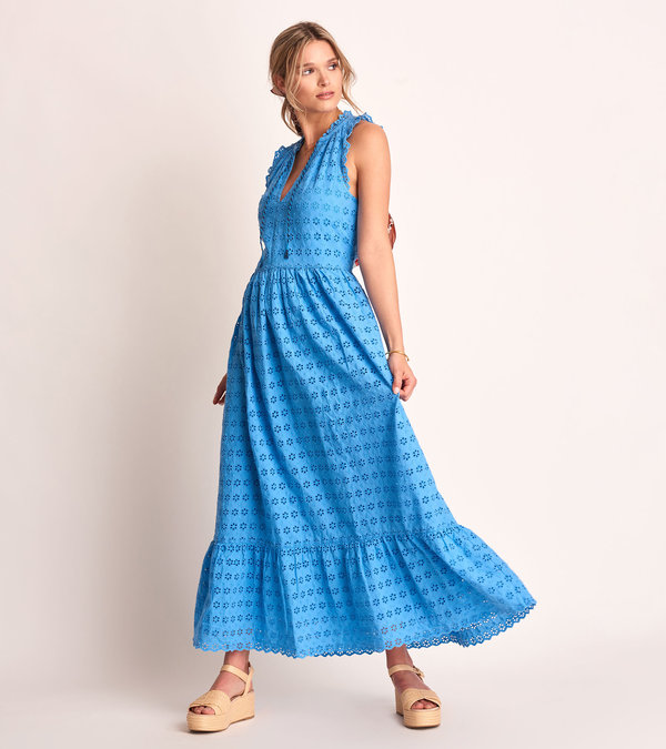 Emma Maxi Dress - Periwinkle Eyelet