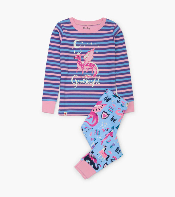 Enchanted Forest Appliqué Pajama Set