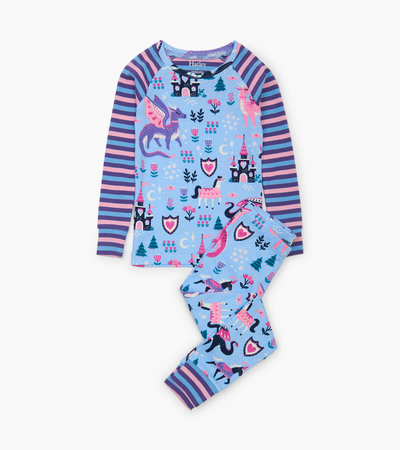 Enchanted Forest Organic Cotton Raglan Pajama Set