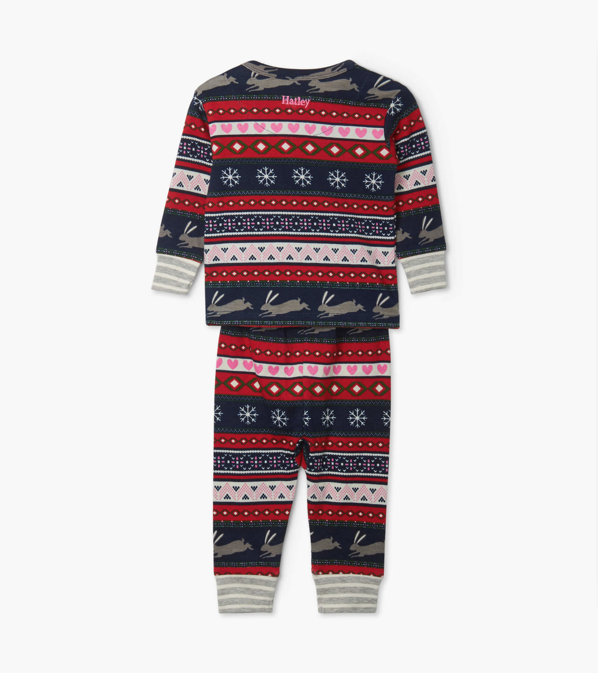 View larger image of Fair Isle Bunnies Organic Cotton Baby Pajama Set