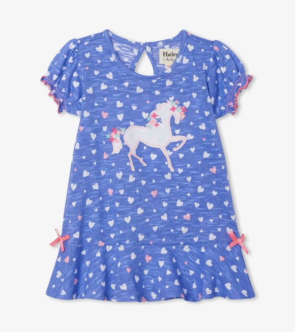 Fancy Unicorn Baby Flounce Hem Dress