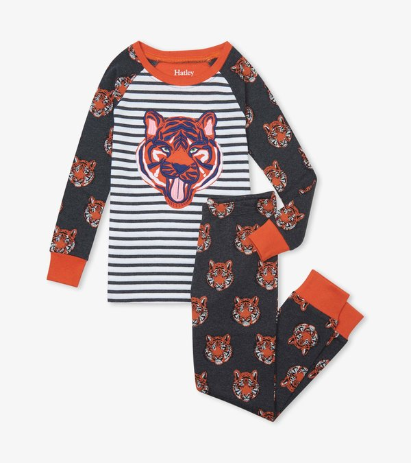 Fierce Tigers Organic Cotton Raglan Pajama Set