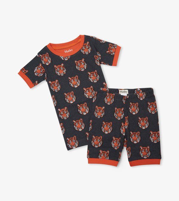 Fierce Tigers Organic Cotton Short Pajama Set