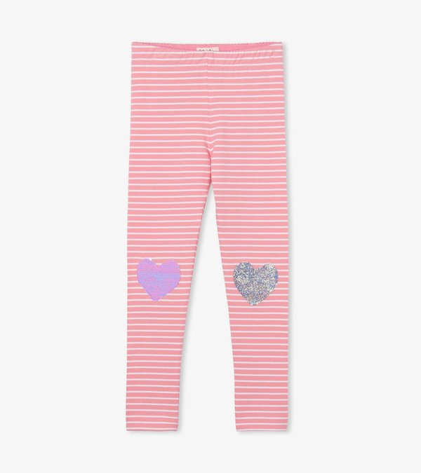 Flip Sequin Hearts Leggings