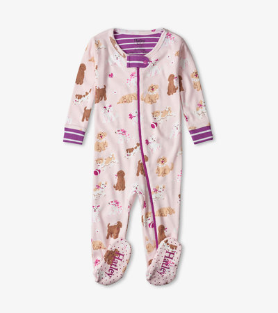 Flower Pups Organic Cotton Footed Coverall