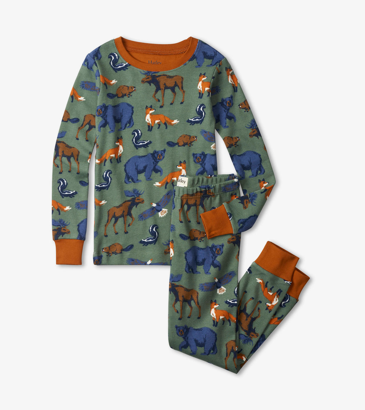 View larger image of Forest Animals Organic Cotton Pajama Set