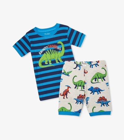 Friendly Dinos Organic Cotton Short Pajama Set