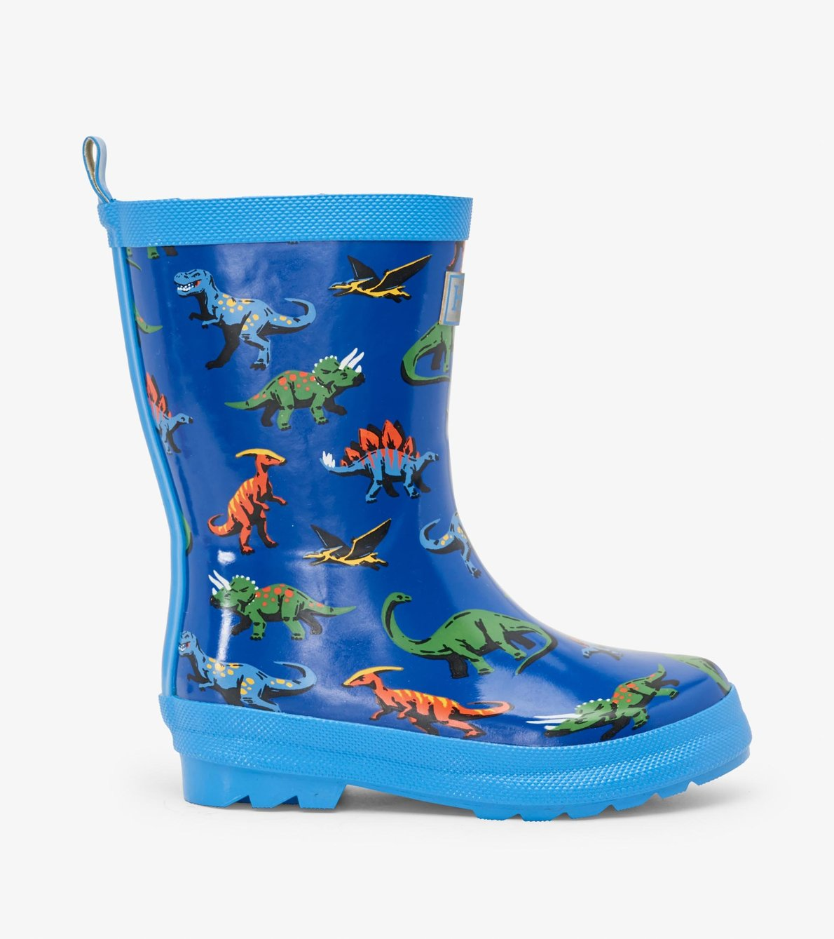 View larger image of Friendly Dinos Shiny Rain Boots