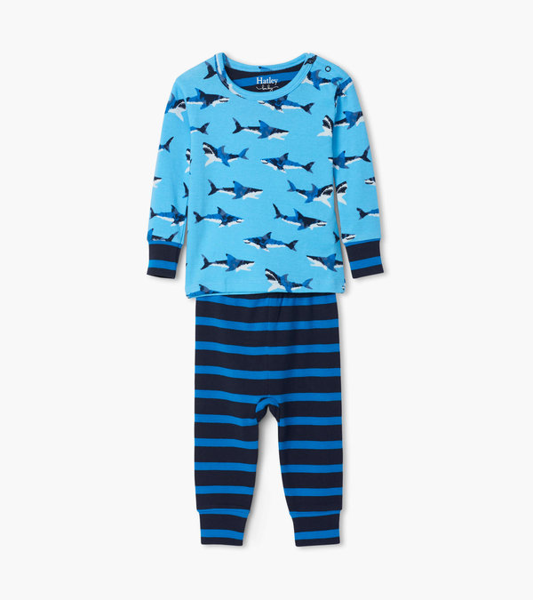 Great White Sharks Organic Cotton Baby Pajama Set
