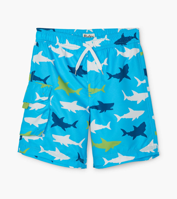 Great White Sharks Swim Trunks