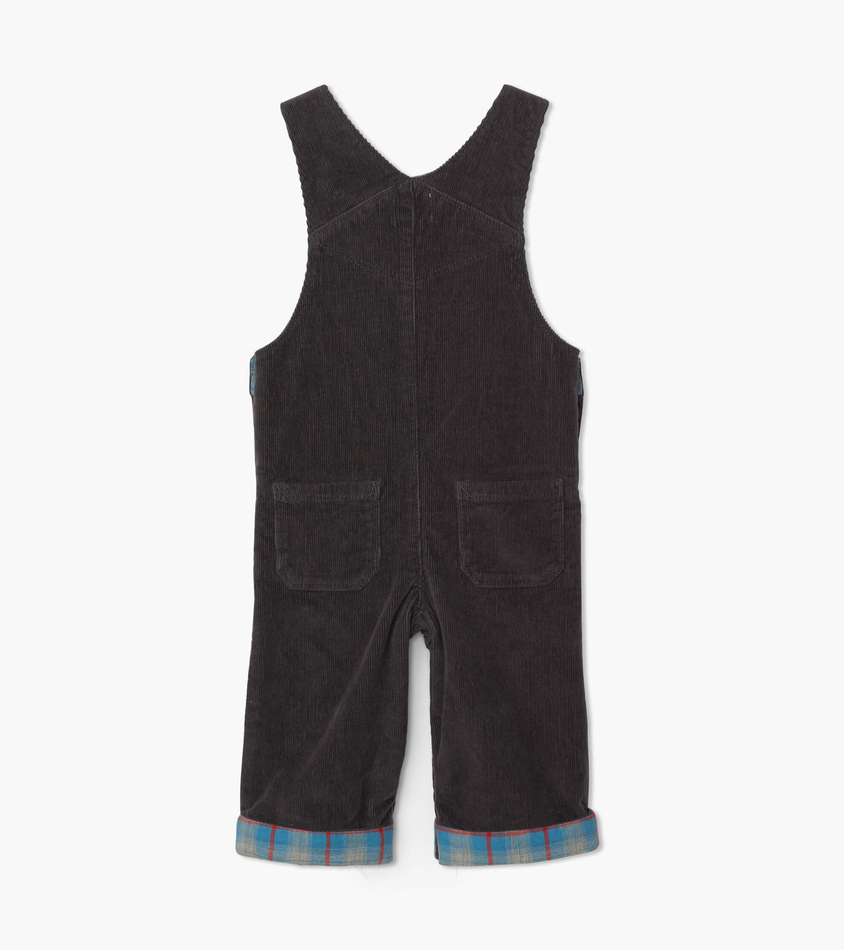 View larger image of Grey Stretch Cord Baby Overalls