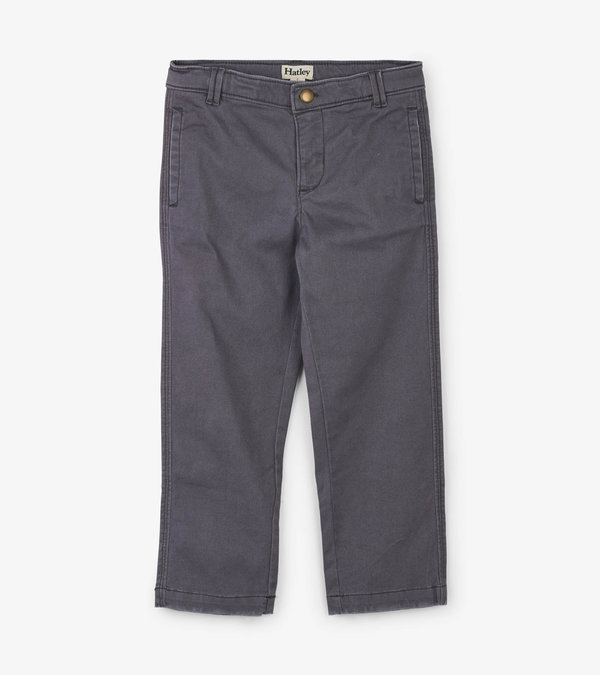 Grey Stretch Twill Pants