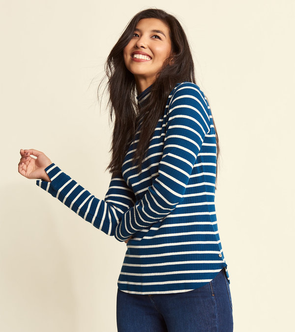 Hatley Turtleneck - Poseidon Stripes