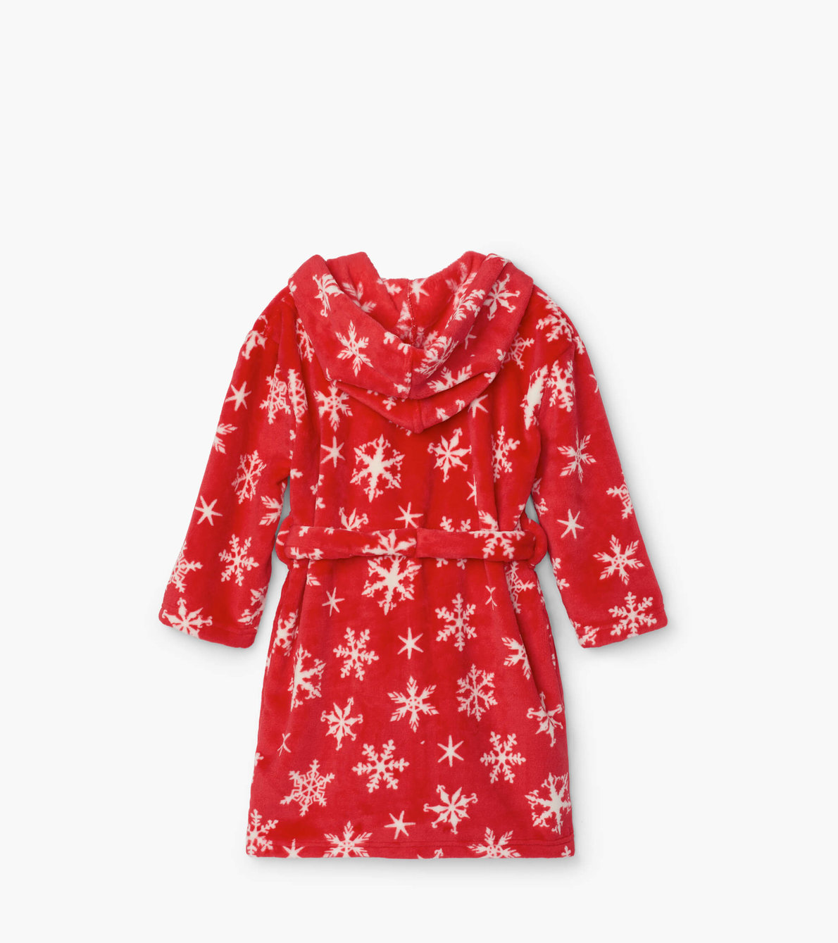 View larger image of Holiday Snowflakes Fleece Robe