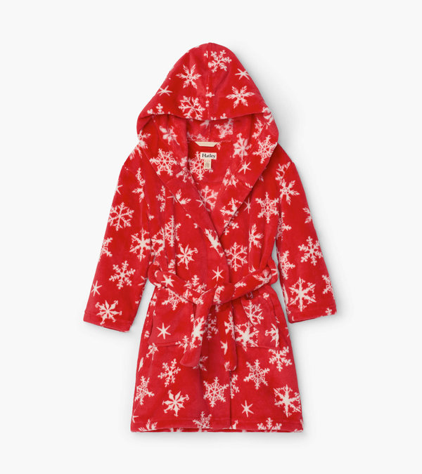 Holiday Snowflakes Fleece Robe