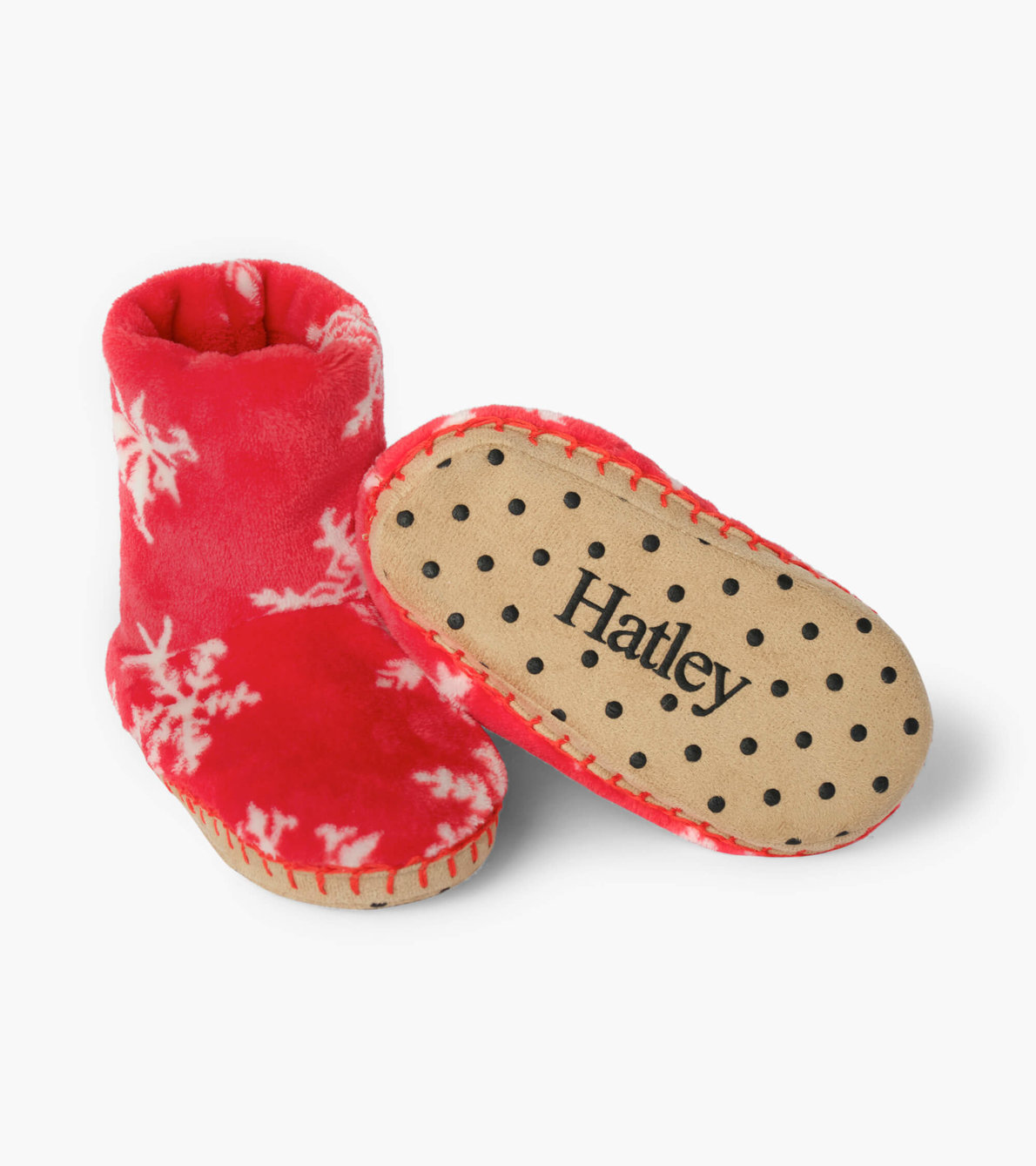 View larger image of Holiday Snowflakes Fleece Slippers