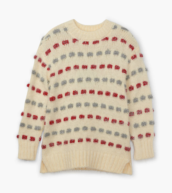 Holiday Stripe Basket Weave Sweater