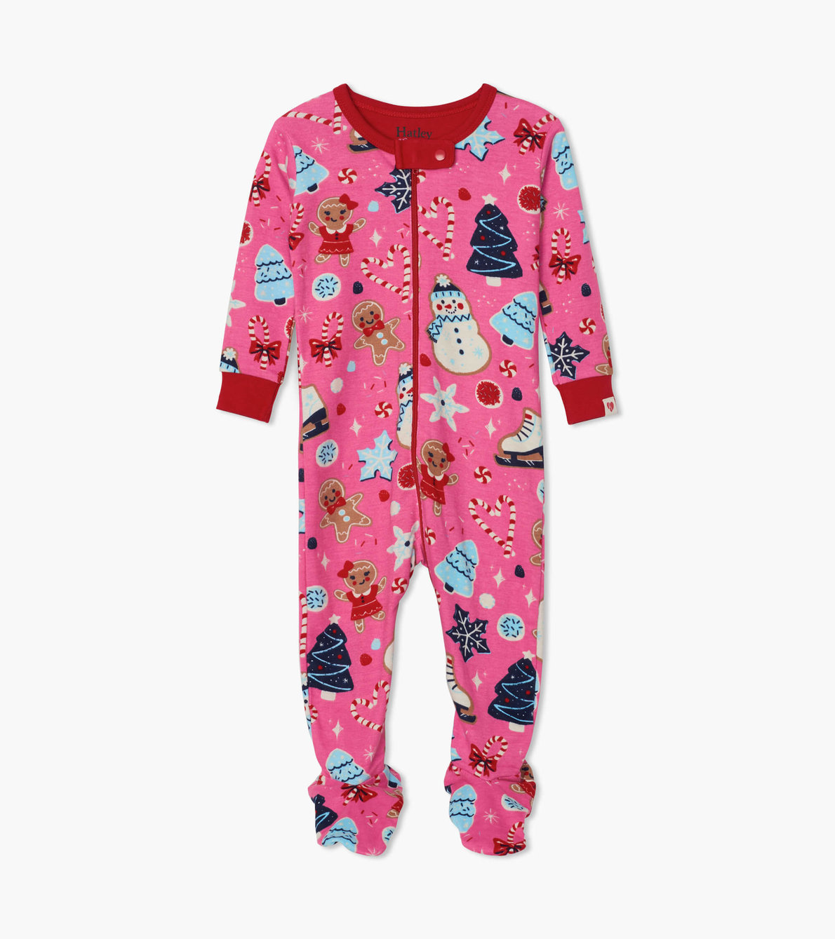 View larger image of Holiday Sweets Organic Cotton Footed Coverall