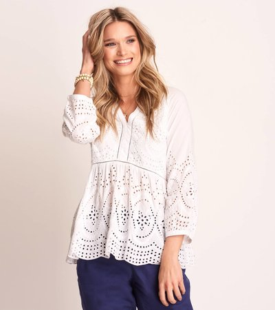 Hope Tunic - White Eyelet