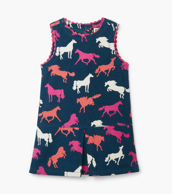 Horse Silhouettes Pinafore Dress