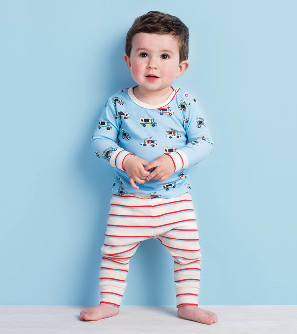 Ice Cream Trucks Organic Cotton Baby Pajama Set