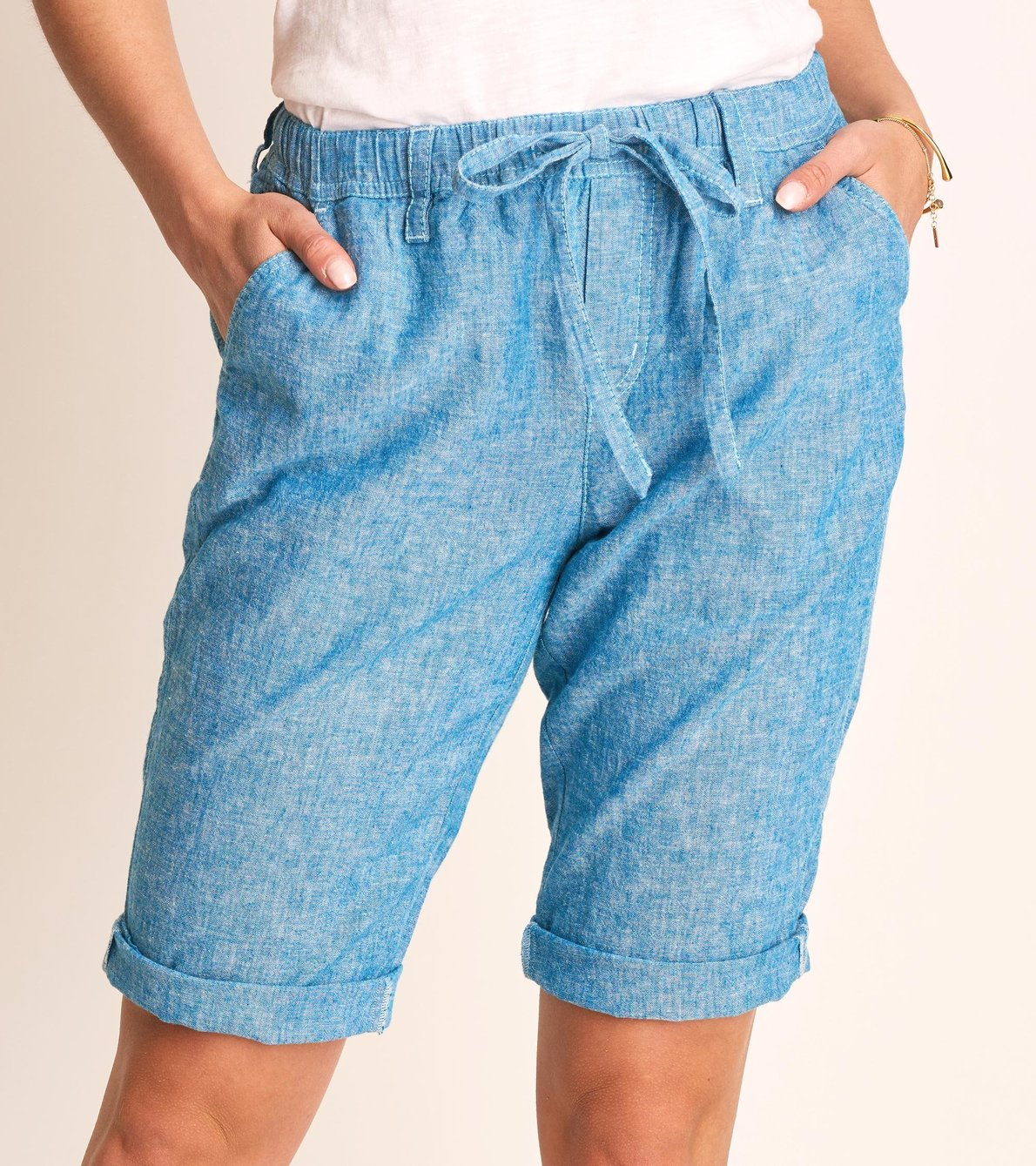 View larger image of Jessie Shorts - Chambray