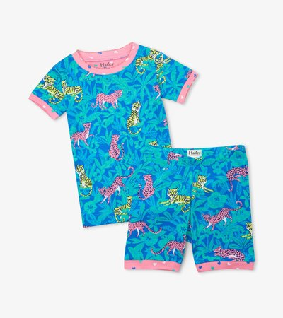 Jungle Cats Organic Cotton Short Pajama Set