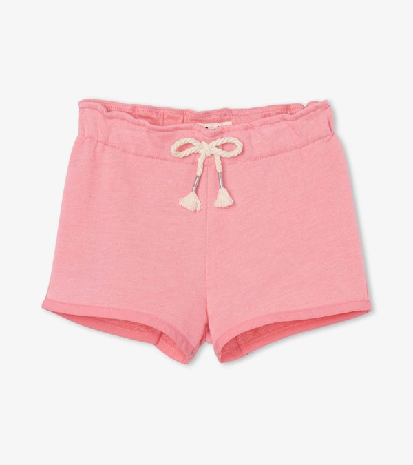 Light Pink French Terry Paper Bag Shorts