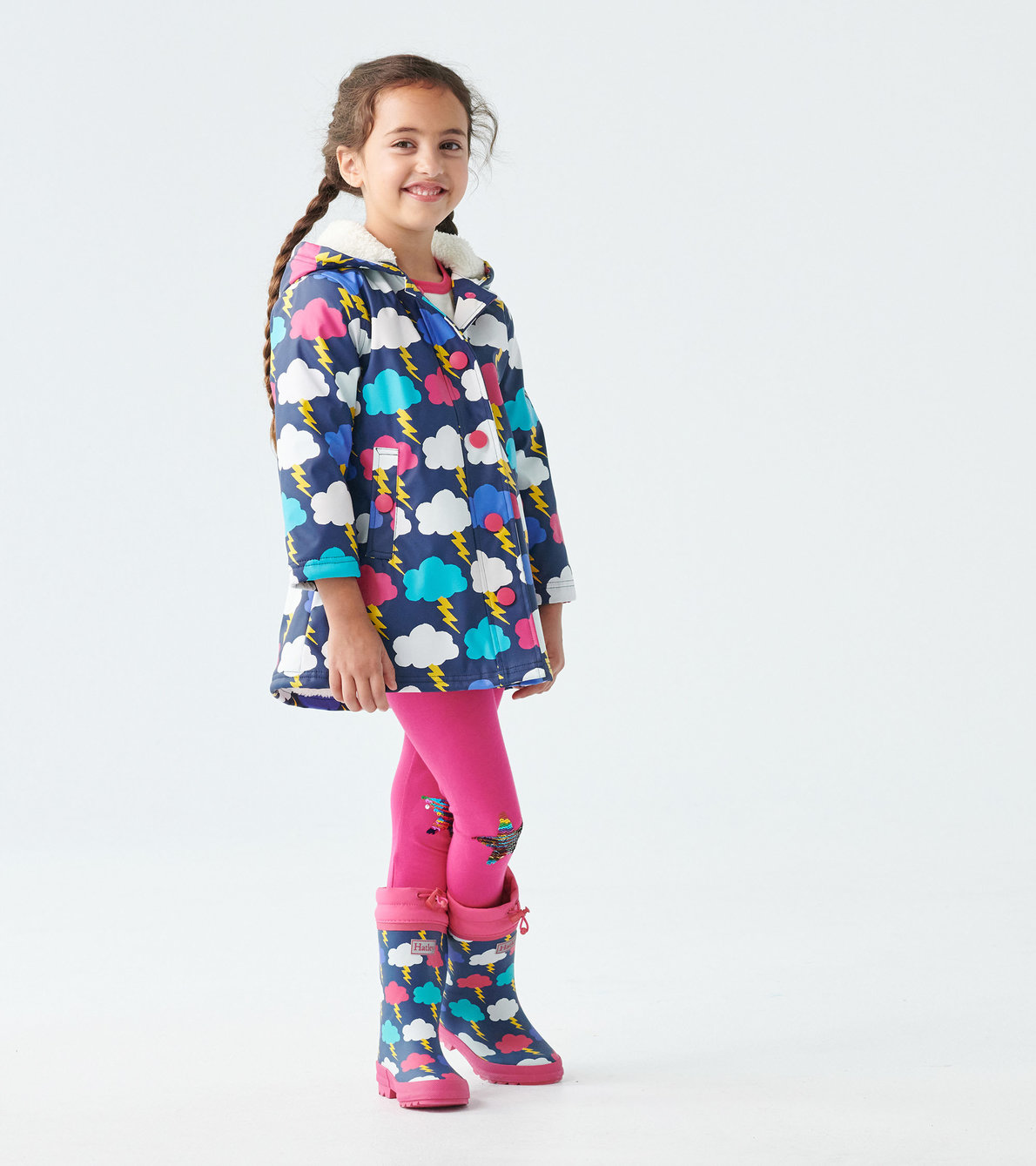 View larger image of Lightning Clouds Sherpa Lined Colour Changing Splash Jacket